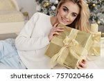 christmas fashion photo of...   Shutterstock . vector #757020466