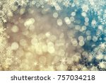 magic vintage holiday glitter... | Shutterstock . vector #757034218