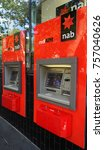 Small photo of Sydney, Australia - October 17, 2017: ATM machine of National Australia Bank (NAB). rediATM is one of Australia's largest ATM networks, with over 3,000 rediATMs across the country.