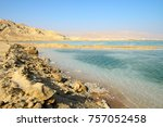 view of dead sea in the morning.... | Shutterstock . vector #757052458