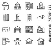 thin line icon set   home ... | Shutterstock .eps vector #757054366
