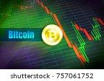 bitcoin volatility. rapid...   Shutterstock . vector #757061752