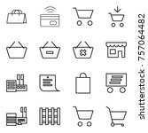 thin line icon set   shopping... | Shutterstock .eps vector #757064482