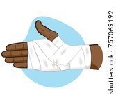 first aid illustration of hands ... | Shutterstock .eps vector #757069192