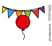 balloon and flag party...