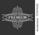vintage badge. logo template.... | Shutterstock . vector #757074235
