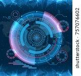 futuristic interface hud design ... | Shutterstock .eps vector #757076602