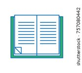 education book object to learn... | Shutterstock .eps vector #757080442
