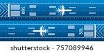 aviation transportation... | Shutterstock .eps vector #757089946