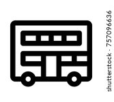double decker bus   transport... | Shutterstock .eps vector #757096636