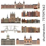 vector isolated buildings and... | Shutterstock .eps vector #757097662