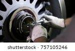 aircraft brake repair. close up ...   Shutterstock . vector #757105246