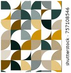 creative circle seamless pattern | Shutterstock .eps vector #757108546