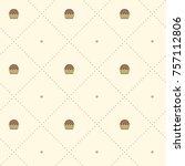 seamless vector pattern with... | Shutterstock .eps vector #757112806