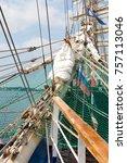 riga  latvia   july 26  regatta ... | Shutterstock . vector #757113046