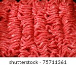 raw minced beef close up   Shutterstock . vector #75711361