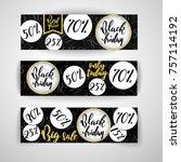 black friday sale horizontal... | Shutterstock .eps vector #757114192