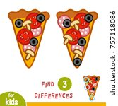 find differences  education... | Shutterstock .eps vector #757118086