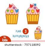 find differences education game ... | Shutterstock .eps vector #757118092
