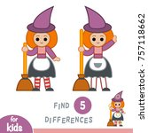 find differences  education... | Shutterstock .eps vector #757118662