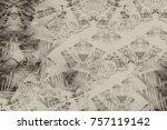 gray antique background pattern.... | Shutterstock . vector #757119142