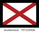 flag of alabama. vector... | Shutterstock .eps vector #757119436