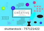 minimal universal banner... | Shutterstock .eps vector #757121422