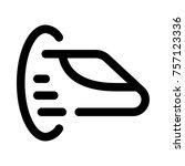 hyperloop for passengers or... | Shutterstock .eps vector #757123336