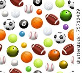 Balls  Seamless Pattern 10eps