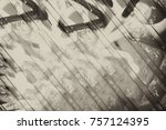 gray antique background pattern.... | Shutterstock . vector #757124395