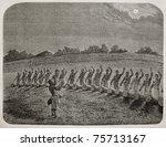 Old Illustration Of Tribal...