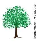 hand drawn vector tree... | Shutterstock .eps vector #757139212