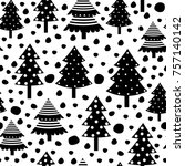 vector seamless pattern with... | Shutterstock .eps vector #757140142