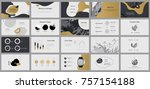 gold and grey elements for... | Shutterstock .eps vector #757154188