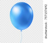 single glossy helium balloon... | Shutterstock .eps vector #757157692