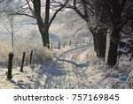 winter landscape with road | Shutterstock . vector #757169845