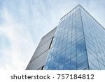 modern apartment buildings on a ... | Shutterstock . vector #757184812