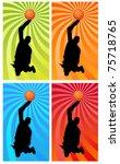 silhouette of a basketball... | Shutterstock . vector #75718765