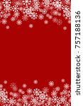 red snowflake vertical... | Shutterstock .eps vector #757188136