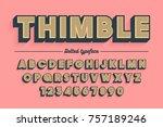 decorative vector vintage retro ... | Shutterstock .eps vector #757189246