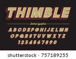 decorative vector vintage retro ... | Shutterstock .eps vector #757189255