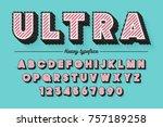 decorative vector modern... | Shutterstock .eps vector #757189258
