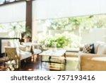 abstract blur hotel lobby...   Shutterstock . vector #757193416