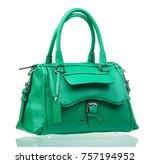 green female handbag over white ...   Shutterstock . vector #757194952