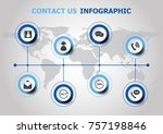 infographic design with contact ... | Shutterstock .eps vector #757198846
