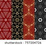 set of decorative wallpaper for ...   Shutterstock .eps vector #757204726