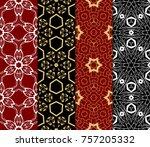 set of decorative wallpaper for ...   Shutterstock .eps vector #757205332