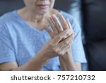 arthritis old person and...   Shutterstock . vector #757210732
