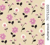 floral pattern in vector | Shutterstock .eps vector #757212232