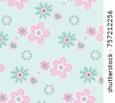 floral pattern in vector | Shutterstock .eps vector #757212256